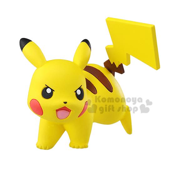 〔小禮堂〕神奇寶貝Pokemon 皮卡丘 手掌型公仔《小.黃.趴姿.泡殼紙卡》TakaraTomy