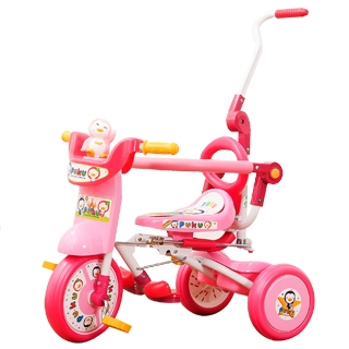 『121婦嬰用品館』PUKU 豪華型輔助三輪車-粉