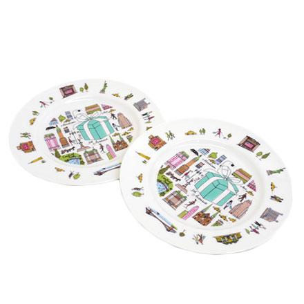 預購。裕子的店。TIFFANY&CO經典城市陶瓷小盤子-2入【jp1220-300】