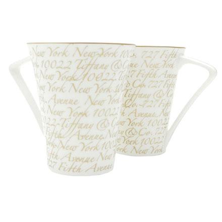 預購。裕子的店。TIFFANY&CO貴婦下午茶草寫杯-2入【jp1220-302】