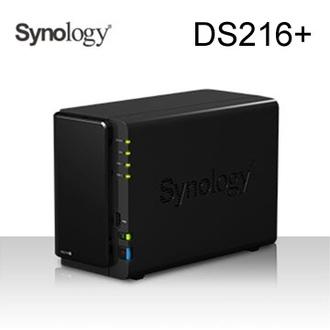 群暉 Synology DS216+ 2Bay 網路儲存伺服器Celeron N3050雙核1.6/1G/2bay,Max 16TB(8TB*2)/2Y DS216Plus