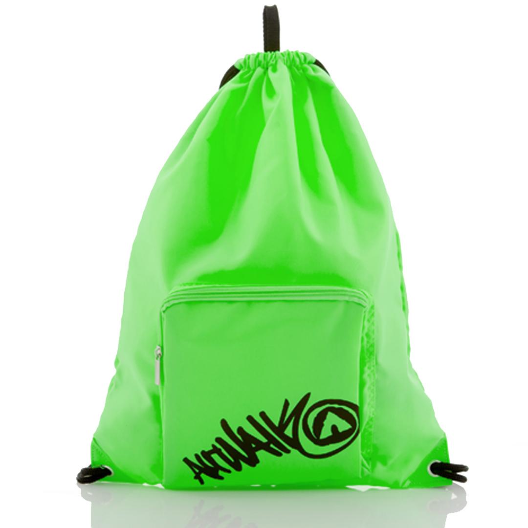AIRWALK街頭系列-街頭主義系列-束口後背包(螢光綠)