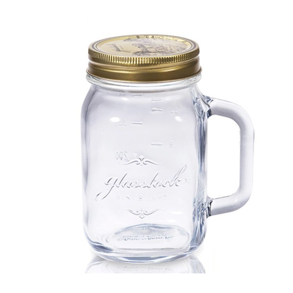 Glasslock經典玻璃密封罐附手柄750ml沙拉罐梅森瓶-大廚師百貨