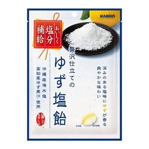 有樂町進口食品 日本進口 甘樂 Kanro 柚子鹽糖 90g 4901351015490