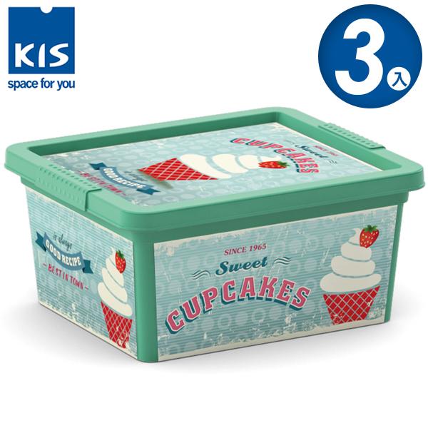 E&J【012001-03】義大利 KIS C BOX 甜點系列收納箱 XXS 3入;無印風/收納箱/收納盒/玩具收納