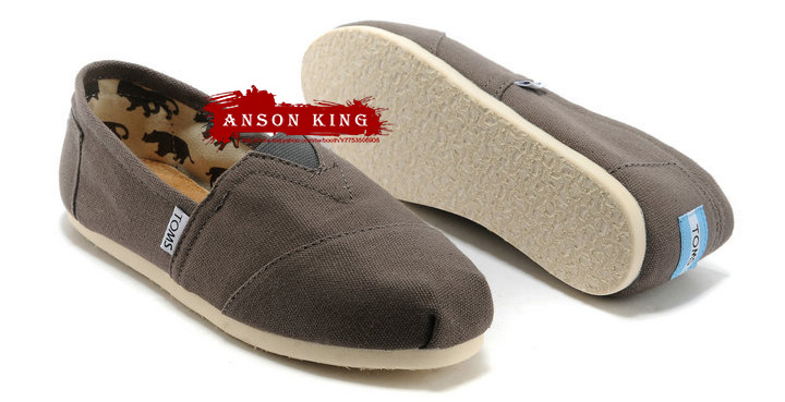 [男款] 國外代購TOMS 帆布鞋/懶人鞋/休閒鞋/至尊鞋 帆布系列 灰色