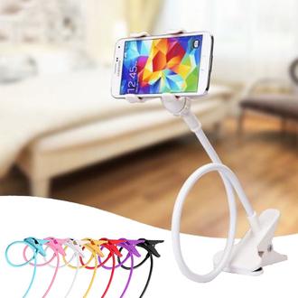 懶人多功能四爪手機支架 床頭夾 創意 通用 懶人支架 雙夾頭 手機座 床上支架【N200014】