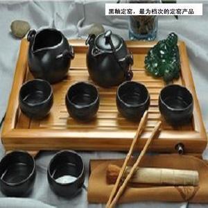 【自在坊】 企鵝壺款 (一壺一茶海六杯組 +贈送茶席) 定窯 茶具 冰裂開片功夫茶具 品茗杯 茶壺 茶海 自在坊