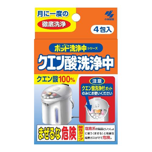 【小林製藥】熱水瓶清潔劑-檸檬酸 4包入 120g