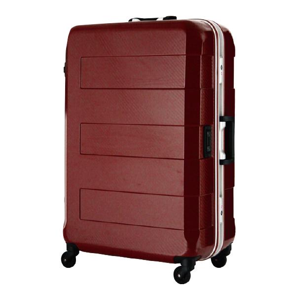 日本 LEGEND WALKER 6021-64-26吋 電子秤鋁框輕量行李箱 銀紅色