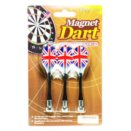 【Playwoods】[Party派對遊戲]紅心射靶-磁性安全飛鏢靶:英國旗-強力磁鐵飛鏢 旗桿飛標-補充包