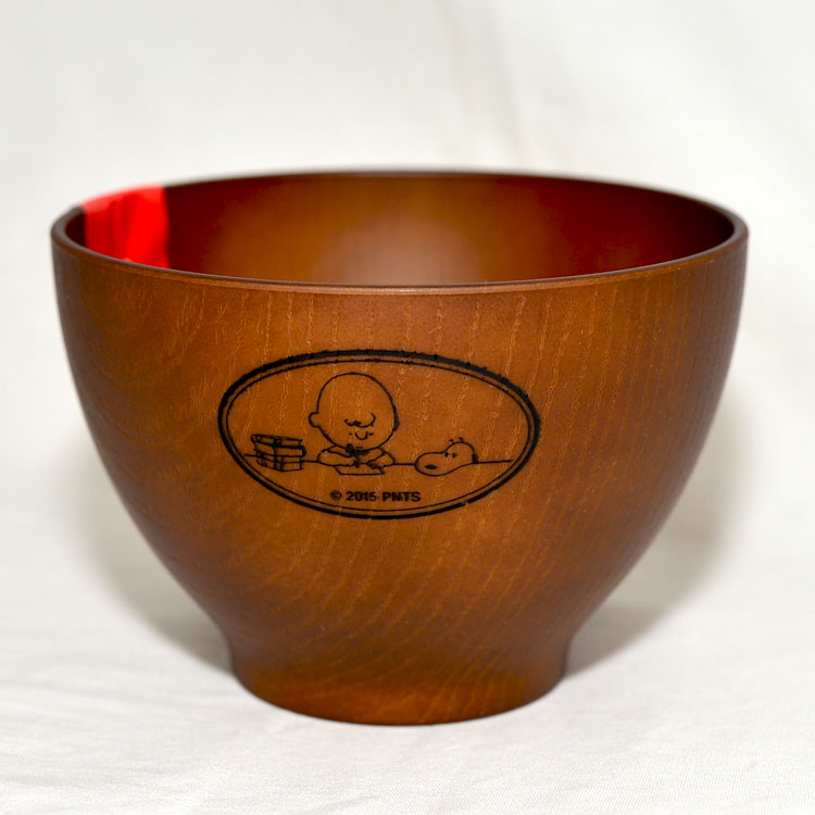 Snoopy 史努比 湯碗 漆器仿木質 日本製 正版商品
