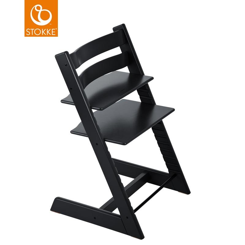 挪威【Stokke】Tripp Trapp 成長椅(黑色)