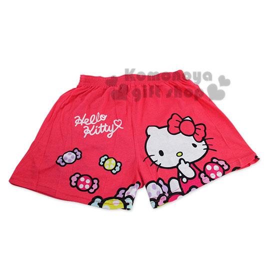 〔小禮堂〕Hello Kitty 家居平口褲《玫瑰紅.指下巴.糖果.糖果蝴蝶結》M-XL
