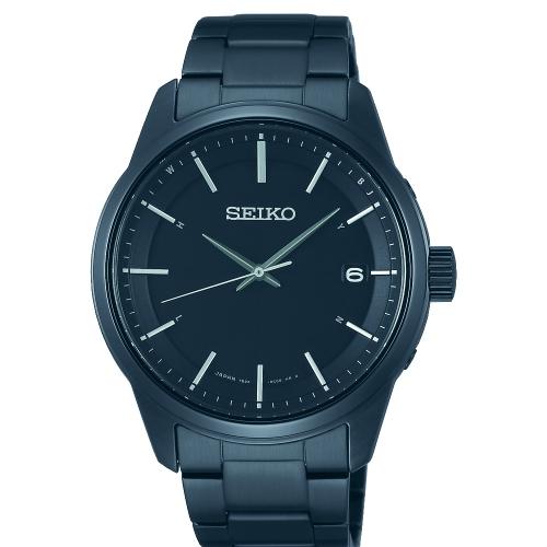 SEIKO SPIRIT簡約時尚太陽能電波腕錶/黑鋼/7B24-0BJ0SD(SBTM235J)