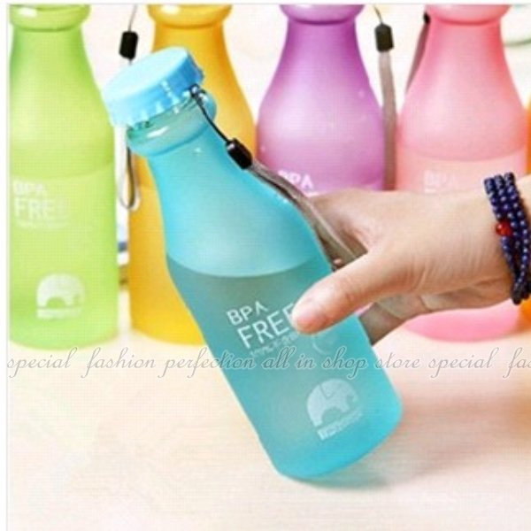 摔不破汽水瓶550ML 磨砂飲料瓶杯子 密封水杯 隨手杯 冷水壺 隨行杯【GF122】◎123便利屋◎
