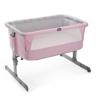 【淘氣寶寶】義大利 Chicco Next 2 Me 多功能移動嬰兒床 ( 童話粉 )