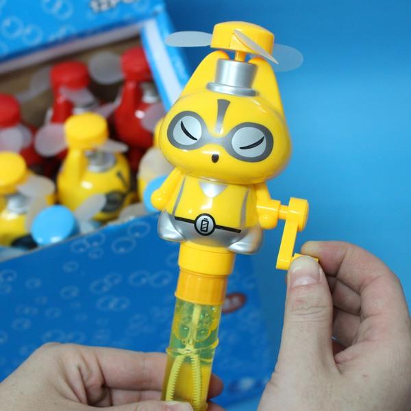 狸貓風扇泡泡棒 576 手搖式風扇+泡泡水 環保電風扇/一個入{促50}~生K392