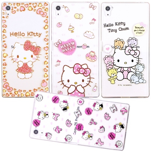 【Hello Kitty】SONY Xperia Z5 Premium 5.5吋 立體彩繪透明保護軟套