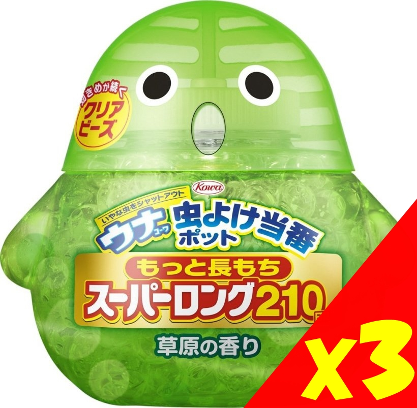 【Kowa】造型防蚊芳香劑210日 3款可選(3入)