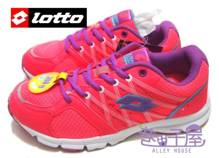 【巷子屋】義大利第一品牌-LOTTO樂得 女款乳膠鞋墊超輕量訓練鞋 230g [1933] 螢光桔 超值價$590