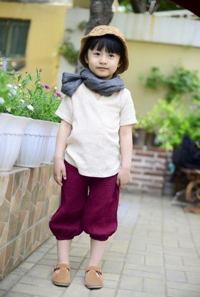 EMMA商城~夏季兒童百搭透氣棉麻九分褲 防蚊童褲