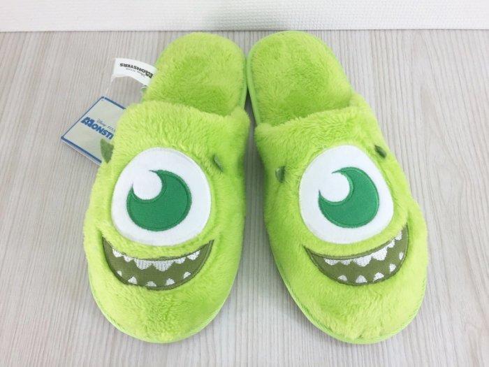 【真愛日本】15112800007 2D防滑絨毛室內拖鞋-大眼仔 迪士尼 怪獸電力公司 怪獸大學 拖鞋 室內