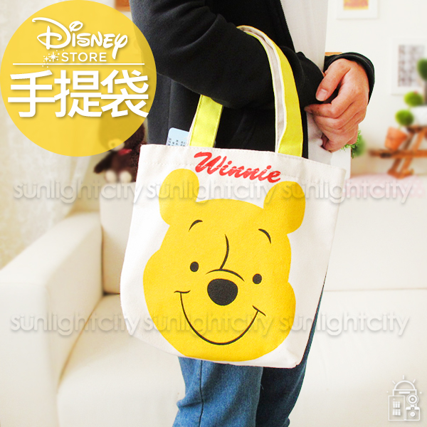 日光城。迪士尼簽名L型手提袋(小),手提包購物提袋外出包萬用袋米奇米妮維尼史迪奇奇奇蒂蒂
