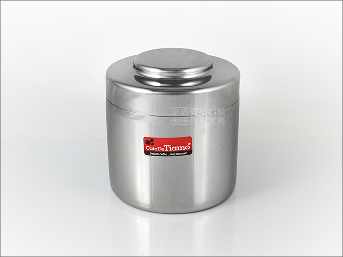 快樂屋? Tiamo 304#不鏽鋼(18-8) 儲豆罐 250g HG2802 咖啡豆罐/茶葉罐/調味罐