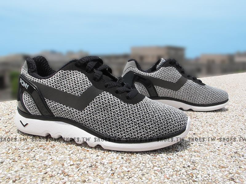 Shoestw【63W1SP61BK】PONY SPLASH 復古慢跑鞋 灰黑 網布