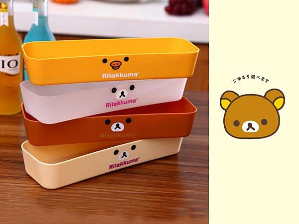 BO雜貨【SV2990】拉拉熊懶懶熊抽屜收納盒 文具 保養品化妝品 餐具收納 桌面 廚房收納