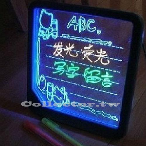 【L14031201】LED浪漫螢光留言板 寫字板 情人節/生日禮物 附螢光筆