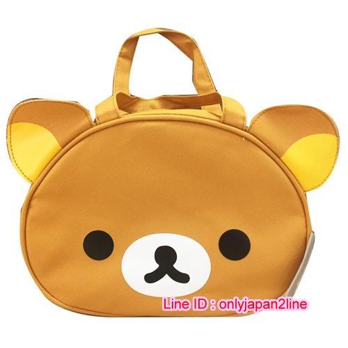 【真愛日本】16110900014拉拉熊造型手提便當袋-大頭咖  SAN-X 懶熊 奶熊 拉拉熊 手提袋  便當袋 正品