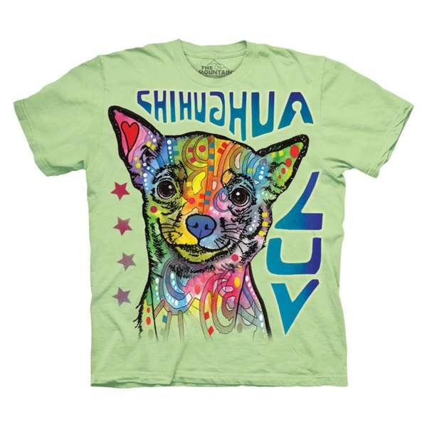 【摩達客】美國進口The Mountain彩繪愛吉娃娃犬(預購) 純棉環保短袖T恤