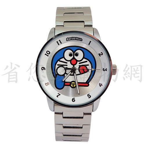 《省您錢購物網》全新~ doraemon 多啦A夢 小叮噹 動動眼秒盤合金錶-白+贈台製精品鬧鐘*1