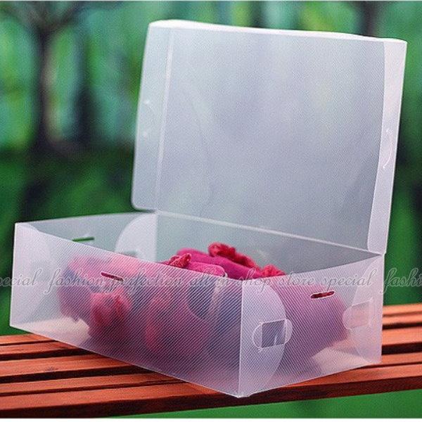 翻開式鞋盒-女款 女鞋適用/透明鞋盒/收納鞋盒/收納盒【DP135】◎123便利屋◎