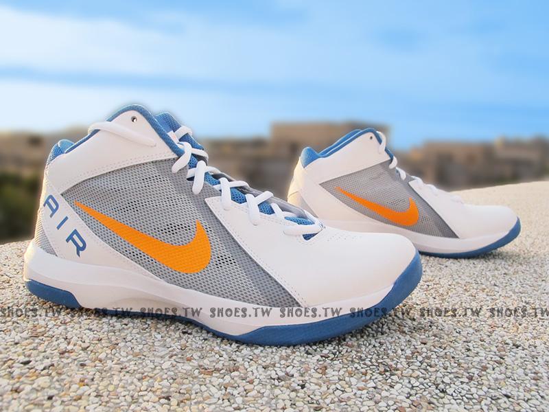 Shoestw【831572-102】NIKE THE AIR OVERPLAY IX 籃球鞋 白藍 雷霆