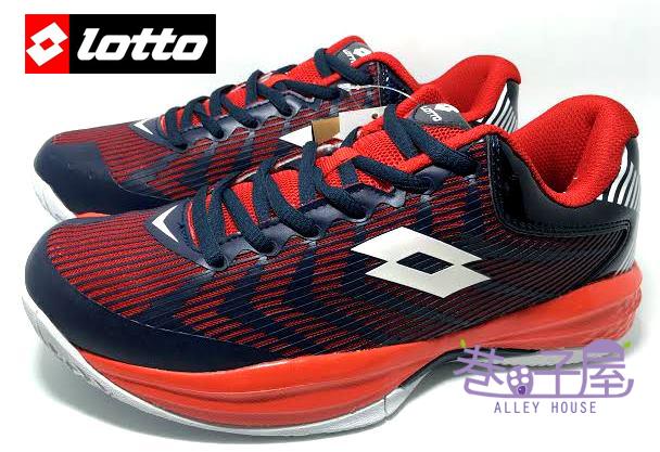 【巷子屋】義大利第一品牌-LOTTO樂得 男款夜鷹科技蓄光戶外籃球鞋 [2537] 深藍/紅 超值價$790