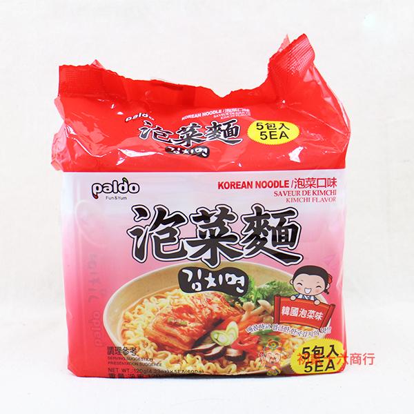 【0216零食會社】韓國Paldo-高麗麵(泡菜味)120g*5包入