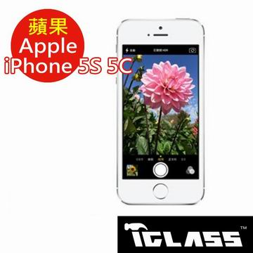 【按讚送好禮+免運】T.Glass 蘋果 Apple iPhone 5 5S 5C 2.5D 平面滿版玻璃螢幕保護貼