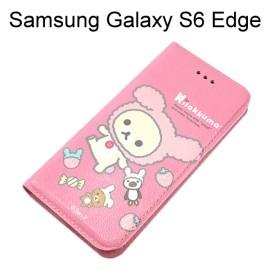 拉拉熊 懶懶熊側掀皮套 [玩偶粉紅熊] Samsung G9250 Galaxy S6 Edge【San-X 台灣正版授權】