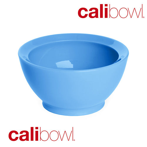 【淘氣寶寶】【美國 CaliBowl】專利防漏防滑幼兒學習碗(單入無蓋) 8oz -藍色【保證原廠公司貨】