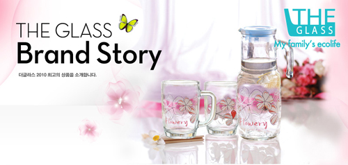 【THE GLASS】優質小紅花玻璃水杯禮盒 TG-GCN30AH
