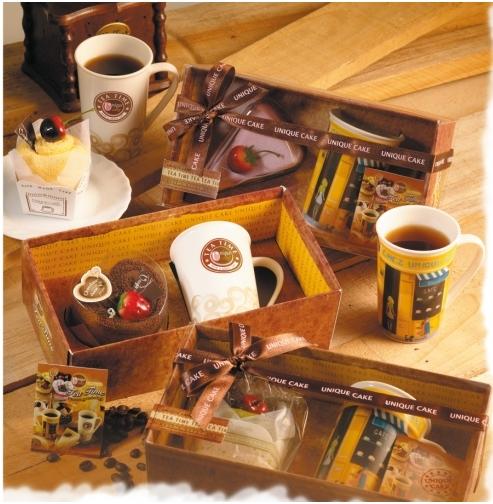 一定要幸福哦~~下午茶蛋糕馬克杯禮盒組、送客禮、姐妹禮、生日禮、蛋糕毛巾