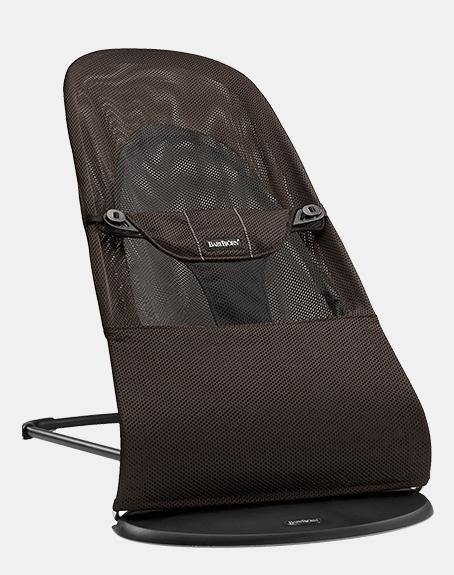 【淘氣寶寶】BabyBjorn Bouncer Balance Soft 柔軟彈彈椅-透氣/咖啡 【彈彈椅自然擺動不需使用電池/符合人體工學】【正品】