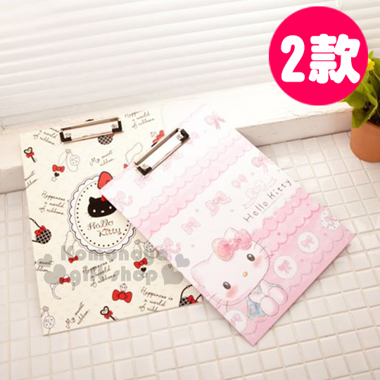 〔小禮堂〕Hello Kitty 文件夾板《A4.兩款選一》A4尺寸大小