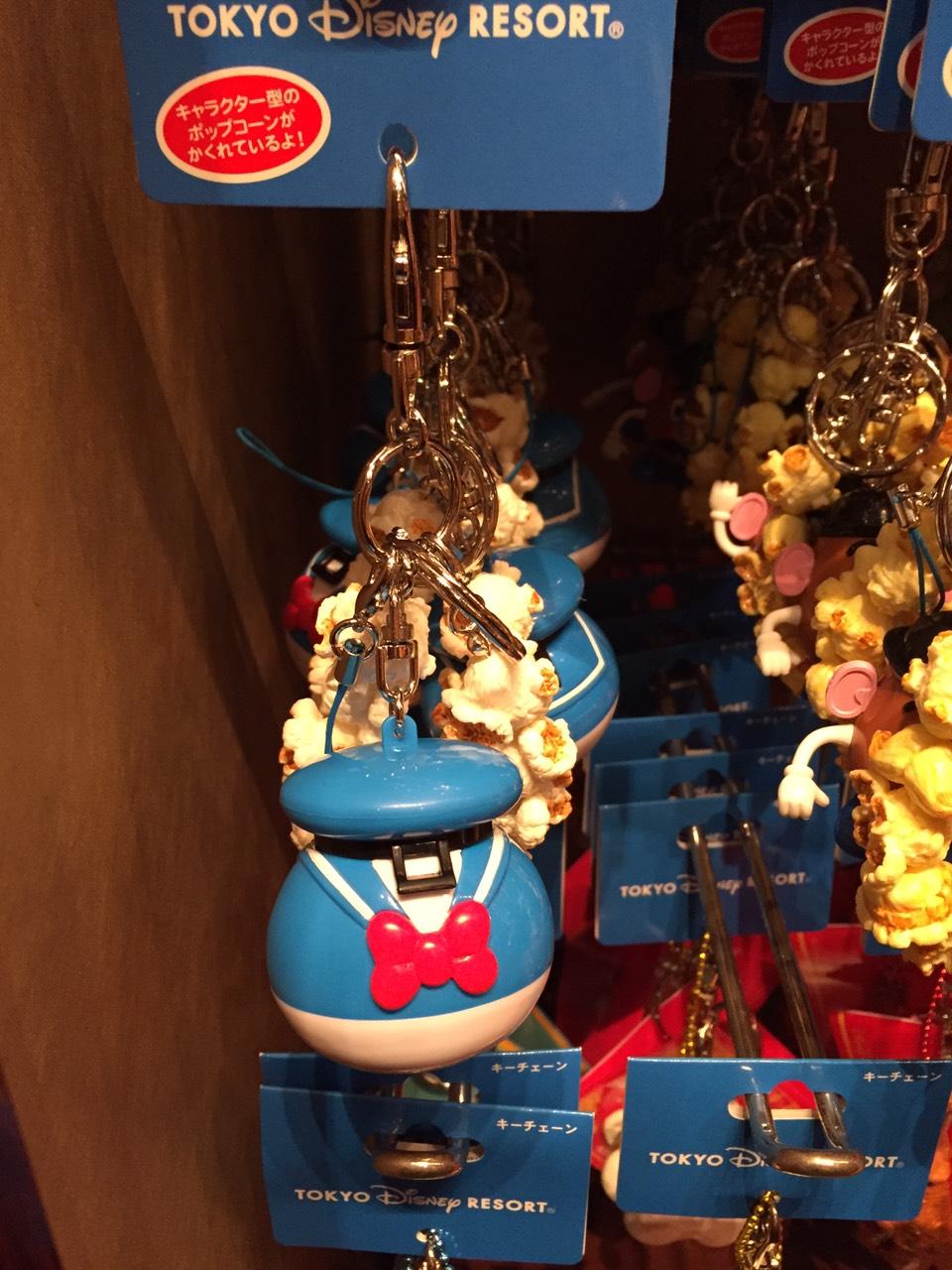 【真愛日本】16030300013 樂園限定鎖圈-爆米花筒唐老鴨 迪士尼帶回 鑰匙圈 鎖圈 吊飾