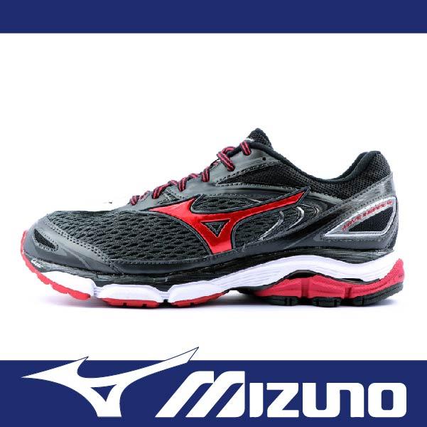 萬特戶外運動 MIZUNO J1GC174561 男慢跑鞋 WAVE INSPIRE 13 2E 支撐型 適合扁平足 低足弓 寬楦 舒適 吸震 黑色