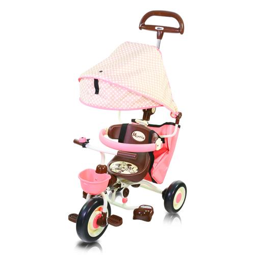 米妮摺疊敞篷三輪車/ ides/ 迪士尼/ 可折疊/ 三輪車/ 兒童騎乘/ 伯寶行