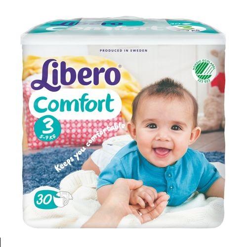 ★衛立兒生活館★麗貝樂 Libero 嬰兒紙尿褲M 3號-30片x6包(尿布)